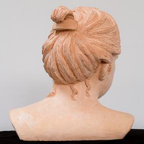 Sculpture en terre cuite, buste de Fanny
