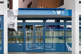 Illustrations pour la façade de la Médiathèque Pierre Seghers