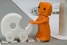 La ville en chantier, Orange aménage un poussette
