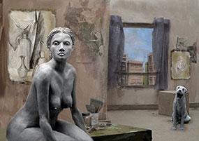 L'atelier : Femme Hopper