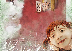 Projet de couverture d'Alice au pays des merveilles