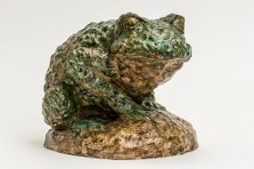 Prince Toad - Sculpture terre cuite patinée - Sculpture Anne Moreau-Vagnon