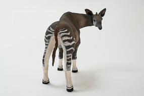 Mondonga, Okapi, terre cuite et fils de coton, sculpture Anne Moreau-Vagnon