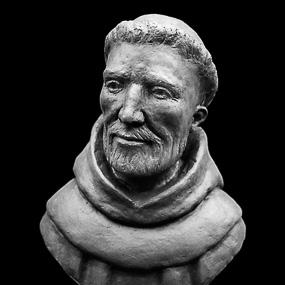 Saint François d'Assise, plâtre