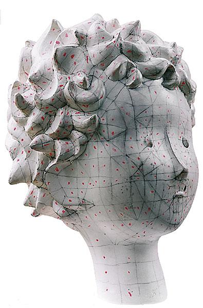 Sculpture maillée 3D de la tête de Le petit prince
