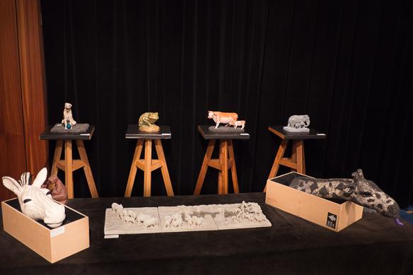 Anne Moreau-Vagnon, Invitée d'honneur de l'exposition de sculpture de l'Atelier Plaisance, Neuilly Plaisance (2014)