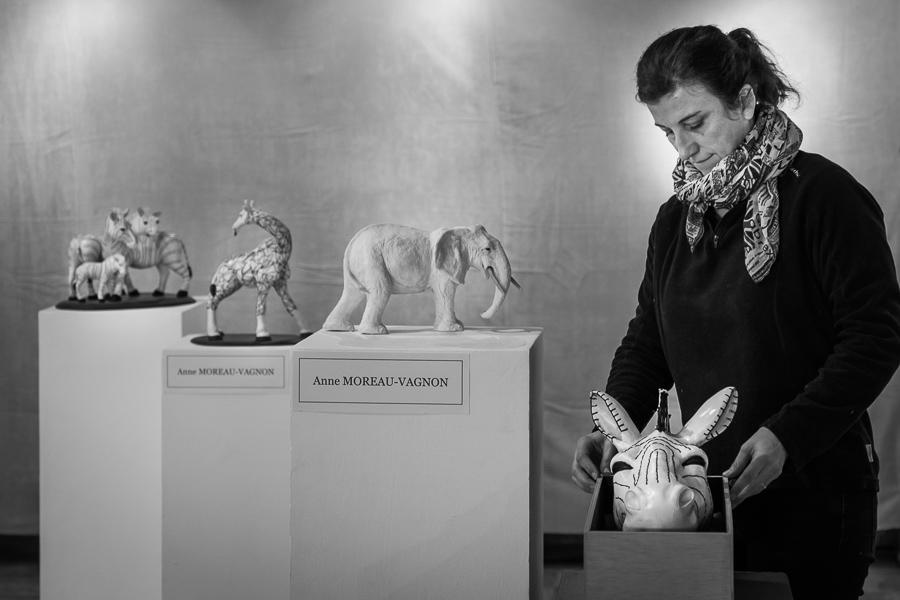Anne Moreau-Vagnon expose à la 11ème biennalle d'art animalier de Saint-Pierre-Les-Nemours