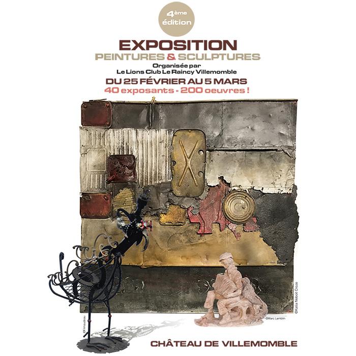 4ème édition Exposition de Peintures et de Sculptures, organisée par le Lions Club Le Raincy Villemomble