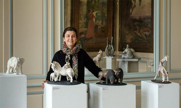 Anne Moreau Vagnon expose ses sculptures à la 4ème édition de l'Exposition de Peintures et de Sculptures, organisée par le Lions Club Le Raincy Villemomble