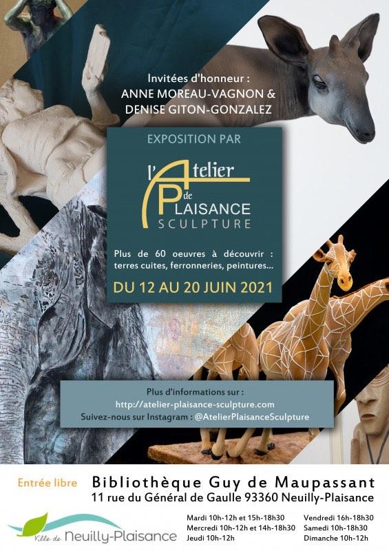 Exposition sculptures Anne MOREAU-VAGNON 2021